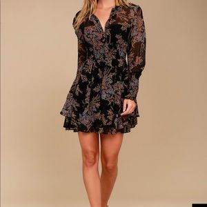 Free People Long Sleeve Mini Dress
